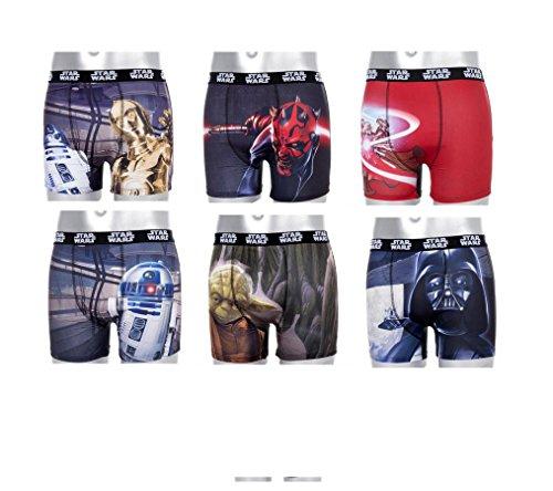 Set 6Boxer Bambino Star Wars Multicolore 10-12 Anni