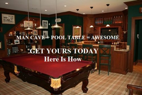 A Man Cave Of Your Very Own Complete With Pool Table