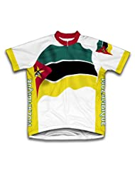 Mozambique Flag Short Sleeve Cycling Jersey for Women