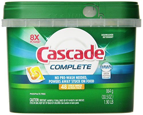Cascade Complete All-In-One Actionpacs Dishwasher Detergent, Citrus Breeze Scent 48 Count (All Dishwasher Detergent compare prices)