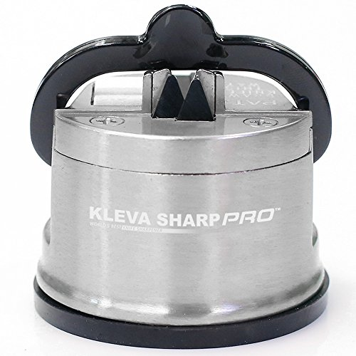 KLEVA SHARP PRO USA Patented Professional Metal Knife Sharpener - Ensure a Razor Sharp Edge for your Knives, Scissors and Tools