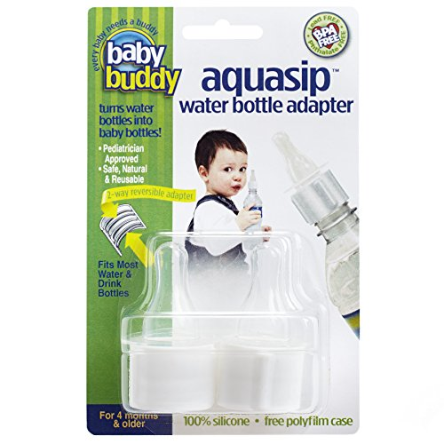 Baby Buddy AquaSip Water Bottle Adapter, White, 2-Count