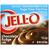 Jell-O Sugar-Free Instant Pudding & Pie Filling, Chocolate Fudge, 1.4-Ounce Boxes (Pack of 24) ~ Jell-O