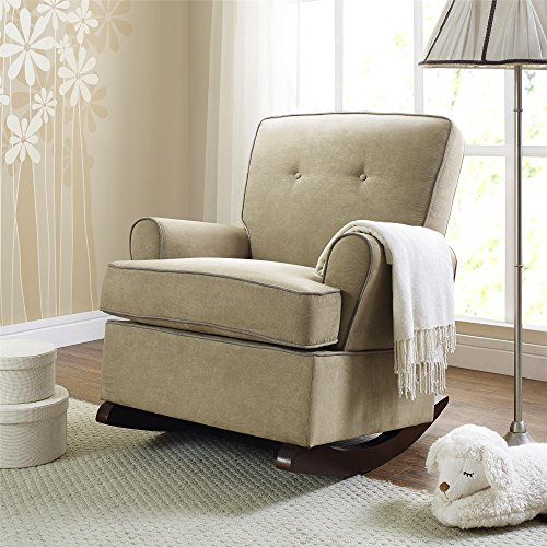 Baby Relax The Tinsley Nursery Rocker Chair, Beige