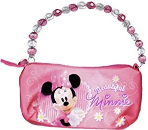 Disney Minnie Mouse Sparkle Hobo Bag with Beaded Handle by Disney