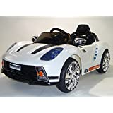 Porsche 918 Style 12v Electric Battery Powered Ride on Car - White - New