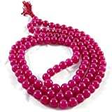 Divya Shakti Ruby Quartz Mala 8 MM 108 + 1 Beads ( Spiritual And Healing Mala )