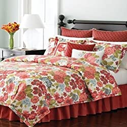 "Martha Stewart ""Cape Flowers"" Queen 6pc Comforter Set"