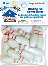 Clubhouse Sports Beads 16 Piece Set - Bowling Pins - Clubhouse Sports Beads 16 Piece Set - Bowling P