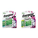 Energizer Rechargeable AA Batteries, NiMH, 2300 mAh, Pre-Charged, 8 Count (Recharge Power Plus) & Rechargeable AA Batteries, NiMH, 2000 mAh, Pre-Charged, 4 Count (Recharge Universal) (Tamaño: AA 8 Count)