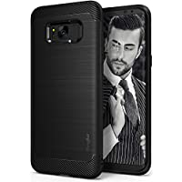 Ringke Onyx Fine Brushed Metal Design Dynamic Stroked Line Case for Samsung Galaxy S8 Plus (2017)