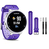 Garmin Forerunner 230 GPS Running Watch, Purple Strike - Purple Watch Band Bundle