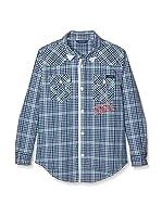 Guess Camisa Casual (Azul / Verde)