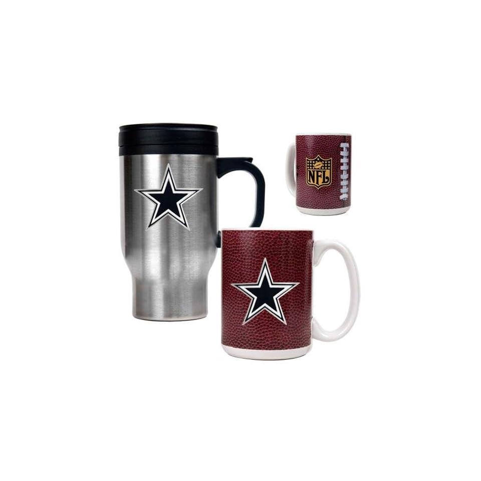 Dallas Cowboys NFL Travel Mug & Gameball Ceramic Mug Set   Primary logo
