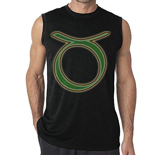 Kim Lennon Taurus The Bull Men's Sleeveless Athetic T-shirt XL Black (Taurus Toaster compare prices)