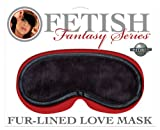 Fetish Fantasy Fur-lined Love Mask, Black