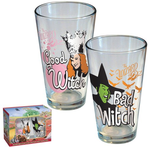 ICUP Wizard of Oz Good Witch Bad Witch Pint Glass 2-Pack
