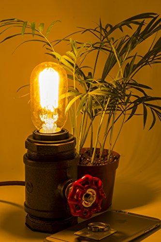 "Y-Nut Loft Style Lamp, ""Watchman"", Steam Punk Industrial, Night Lamp, Table Desk Light, LL-002 2"