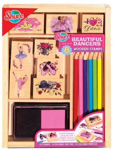 Designed For The Up And Coming Artist In Your Family - T.S. Shure Beautiful Ballerinas Stamp Set