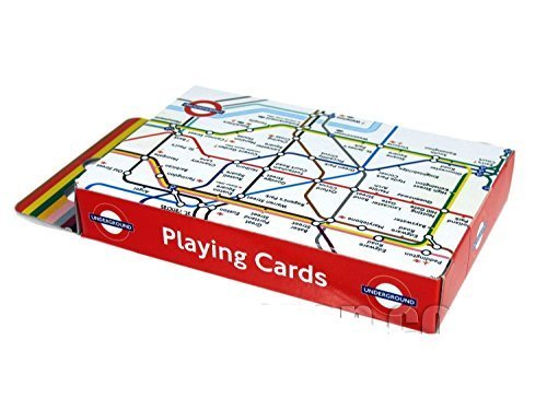 Playing Cards with Underground Tube Map Print, Transport for London Souvenir ... - 1