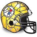 The Pittsburgh Steelers Football Helmet Lamp by The Bradford Exchange