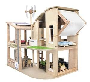 PlanToys - PT7156 - Jouet en bois - Maison Ecologique Meublée