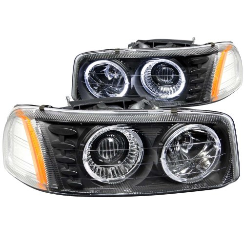 Anzousa 111192 Black Projector Halo Headlight - (Sold In Pairs)