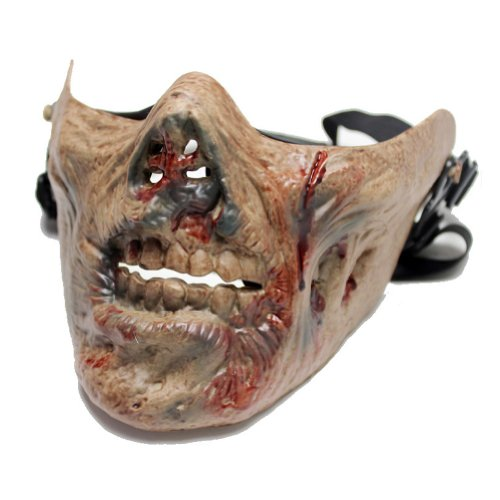 Walking Dead Cosplay Zombie Skeleton Skull Bone Half Face Protect Mask Finely Model