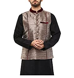 Yepme Men's Bronze Blended Nehru Jackets - YPMNJKT0036_S