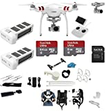DJI Phantom 3 Standard Quadcopter Drone with 2.7K HD Camera EVERYTHING YOU NEED Kit + DJI Extra Battery + Snap on Guards + 64GB SD Card w/Reader + Carry System + (2 Battery must have Bundle)