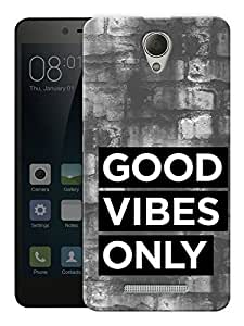 "Good Vibes Only - Quote Printed Designer Mobile Back Cover For ""Xiaomi Redmi 3S"" By Humor Gang (3D, Matte Finish, Premium Quality, Protective Snap On Slim Hard Phone Case, Multi Color)"