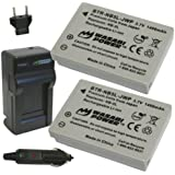 Wasabi Power Battery (2-Pack) and Charger for Canon NB-5L and Canon PowerShot S100, S110, SD700 IS, SD790 IS, SD800 IS, SD850 IS, SD870 IS, SD880 IS, SD890 IS, SD900 IS, SD950 IS, SD970 IS, SD990 IS, SX200 IS, SX210 IS, SX220 IS, SX230 HS