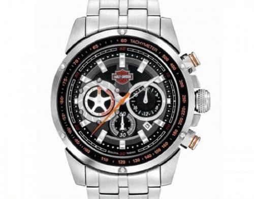 Harley-Davidson® Men's Bracelet Watch. Chronograph. Luminous Hands. Tachymeter. 76B160