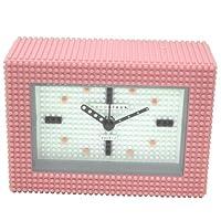 [ナノブロック]nanoblock デコレーション目覚まし時計 アラームクロック 置時計 おまけブロック付 ピンク×ホワイト NAAC-96904PI