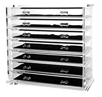 Hot Sale Deluxe 7-drawer Acrylic Jewelry Chest or Cosmetic Organizer with Removable Drawers and Liners