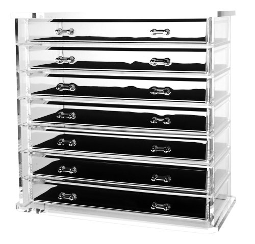 Amazon.com - Deluxe 7-drawer Acrylic Jewelry Chest or Cosmetic Organizer with Removable Drawers and Liners - Lucite Jewelry Box