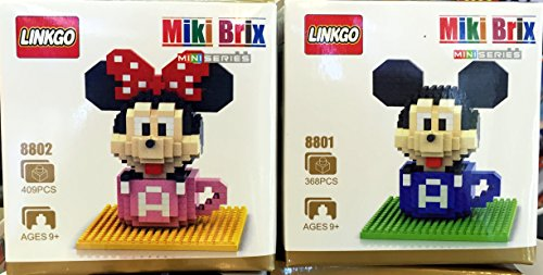 Mickey Minnie Mouse Clubhouse Toys Cofffee Mug Cafe Cup Party Supplies Figures Nanoblock Building 2 Sets Nano Bricks Diy Figurine Paraphernalia Micro Educational Toys Collection