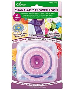 """Hana-Ami"" Flower Loom 6 Shape Set, Pink/Blue"