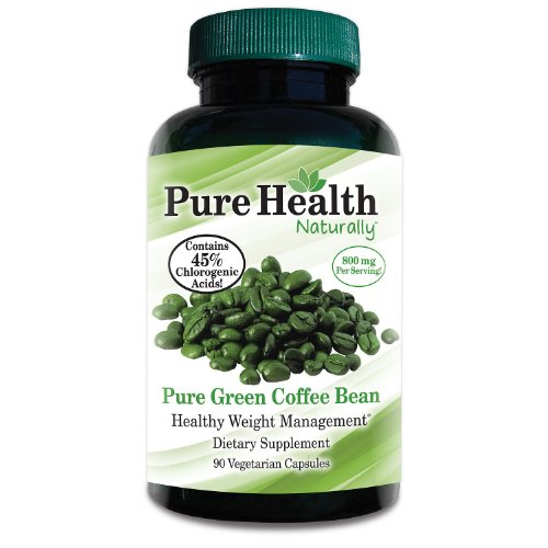 400 mg Green Coffee Bean Extract 90 Capsules by Pure Health - 100% Pure, Absolutely no fillers or additives!!