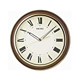 Seiko Wall Clock (32 Cm X 32 Cm X 4.5 Cm, Brown, QXA916BN)