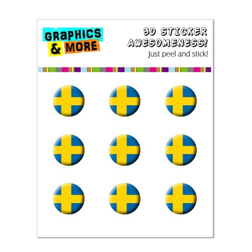 Graphics and More Sweden Swedish Flag Home Button Stickers Fits Apple iPhone 4/4S/5/5C/5S, iPad, iPod Touch - Non-Retail Packaging - Clear