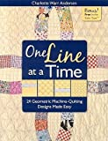 img - for One Line at a Time: 24 Geometric Machine-Quilting Designs Made Easy [With Inchie Ruler Tape]   [1 LINE AT A TIME] [Paperback] book / textbook / text book