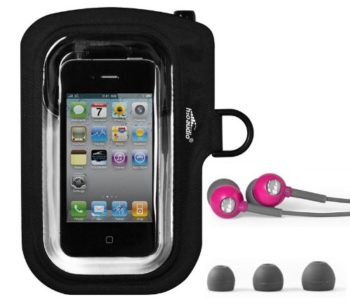 H2O Amphibx Go Waterproof Case & Headphones For Iphone, Ipod Touch, Droid, Htc - (Pink)