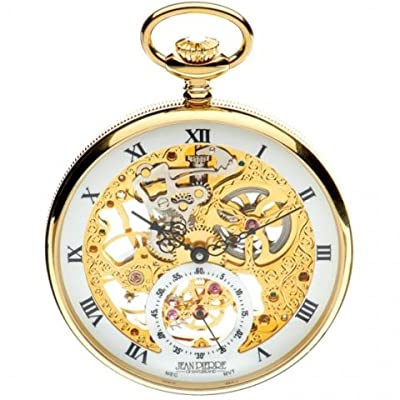 Jean Pierre Pocket Watch G252 PM Gold Plated Open Face