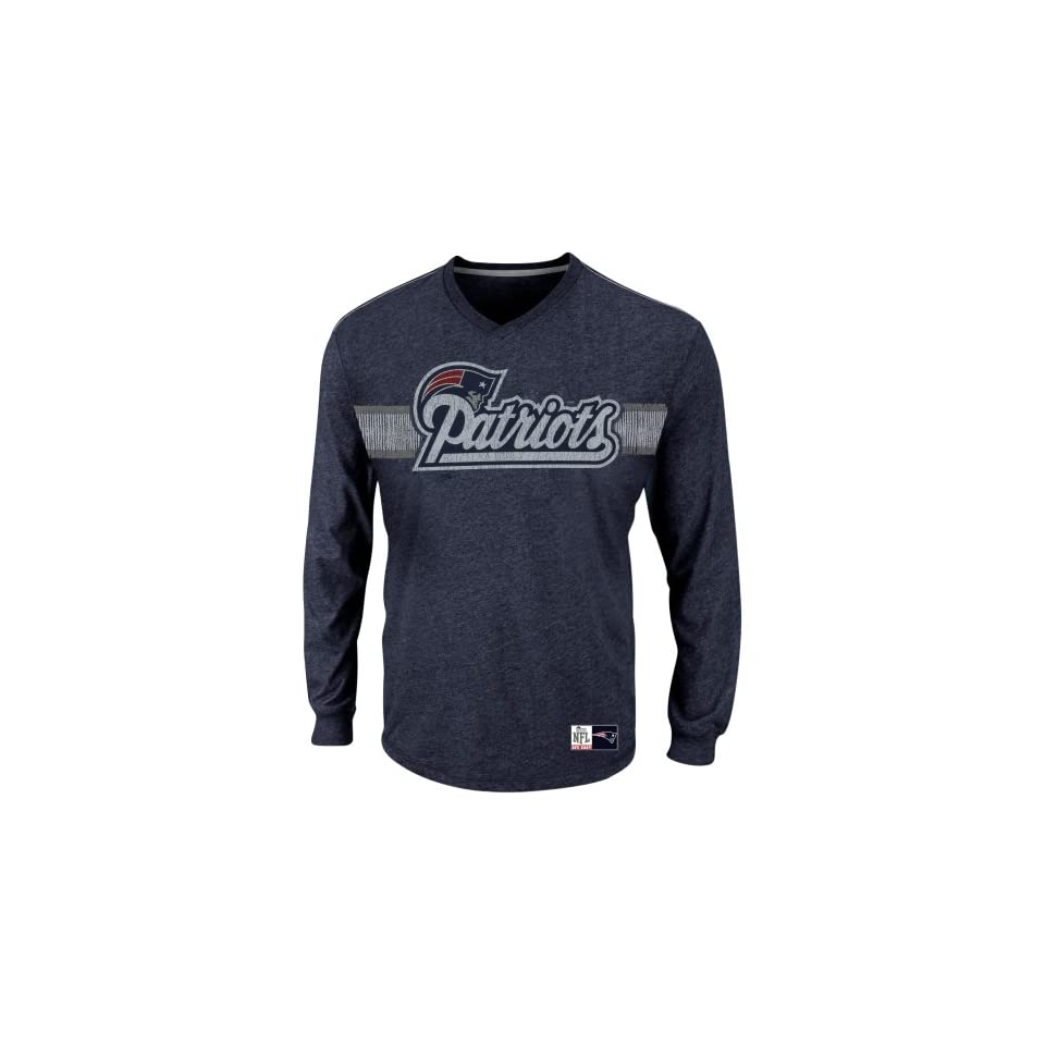 New England Patriots t shirt  New England Patriots Victory Pride V Long Sleeve T Shirt   Navy Blue  Sports Fan Apparel  Sports & Outdoors