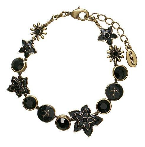 PILGRIM 349-902 Armband vergoldet, schwarz