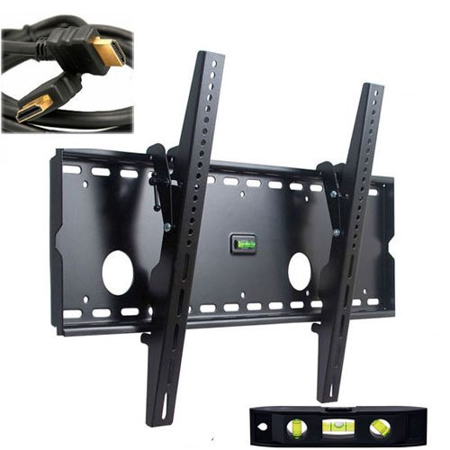 VideoSecu Black Tilt Wall Mount Bracket for LG 42CS560 42LS5700 47LM7600 47LM6200 47LM6700 50PA4500 55LM6700 55LM6200 55LM8600 60PA6500 65LM6200 HDTV with Free 7 FT HDMI Cable B33