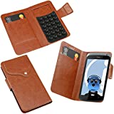 ITALKonline HTC One X+ Brown Super Slim PU Leather Executive Multi-Function Wallet Case Cover Organiser Flip with Credit / Business Card Holder - Suction Pad Design