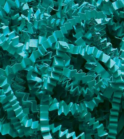 1/2 LB Crinkle Cut Paper Shred - Turquoise