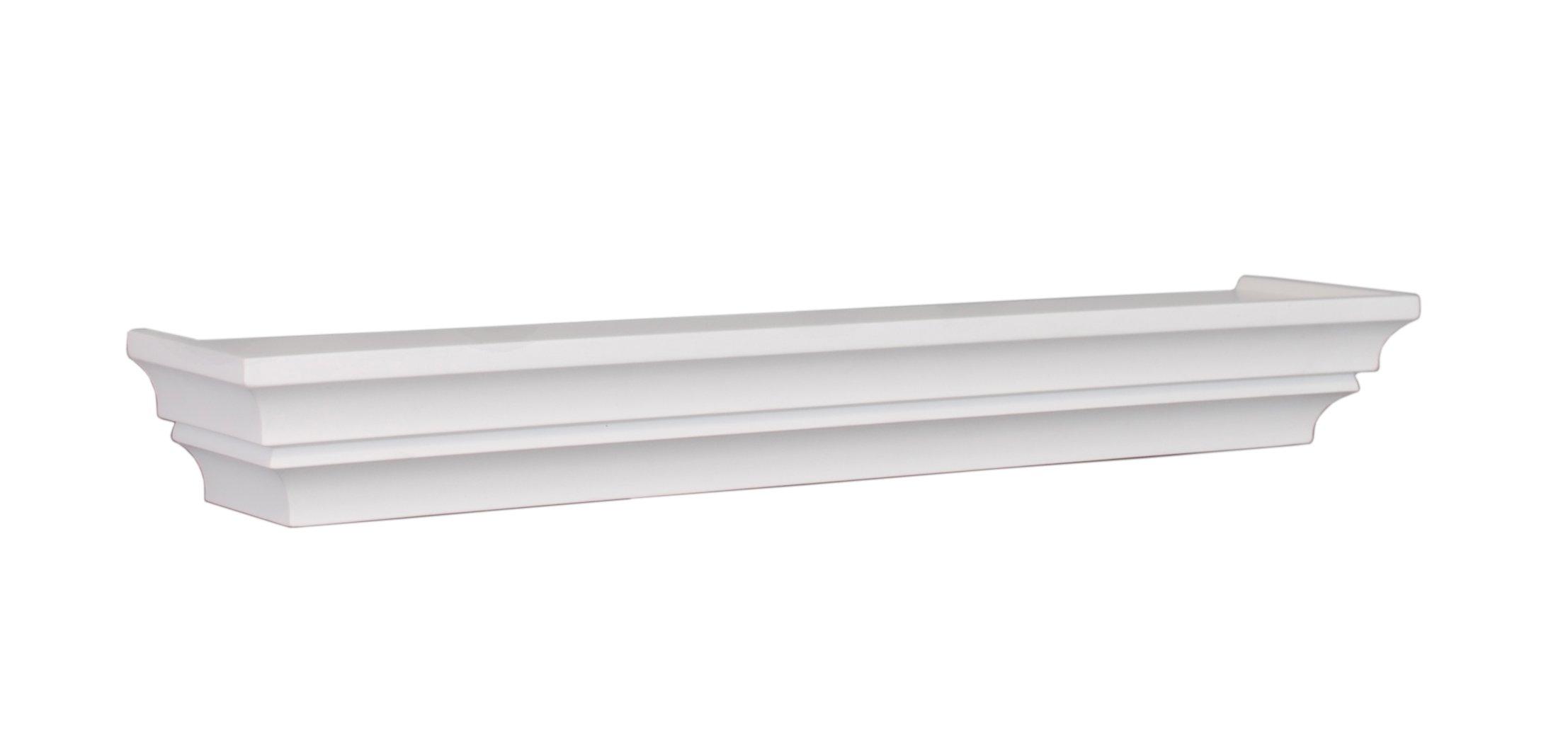 nexxt madison contoured wall ledge shelf 24 inch white. Black Bedroom Furniture Sets. Home Design Ideas